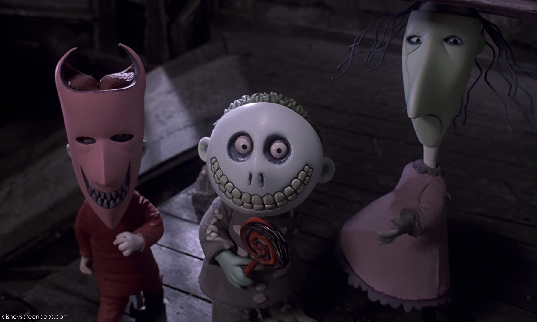 The trick-or-treaters tasked with kidnapping Sandy Claws